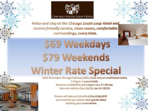 South Loop Hotel 2016 Winter Rate Special