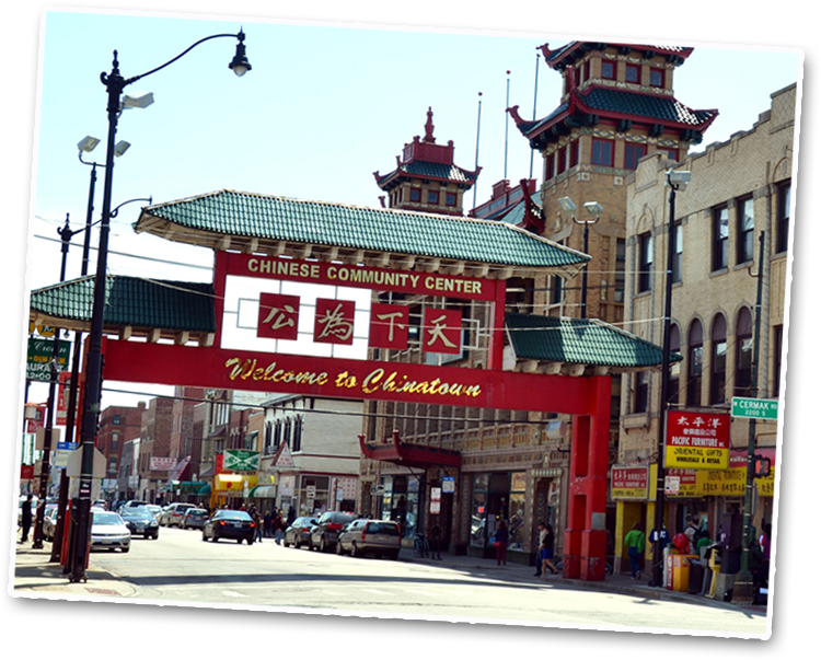 Resources landmarks tourism chicago chinatown chamber for Chinatown mural chicago