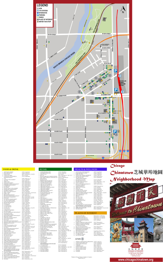 Hotels In Chicago >> Chinatown Map | Chicago Chinatown Chamber