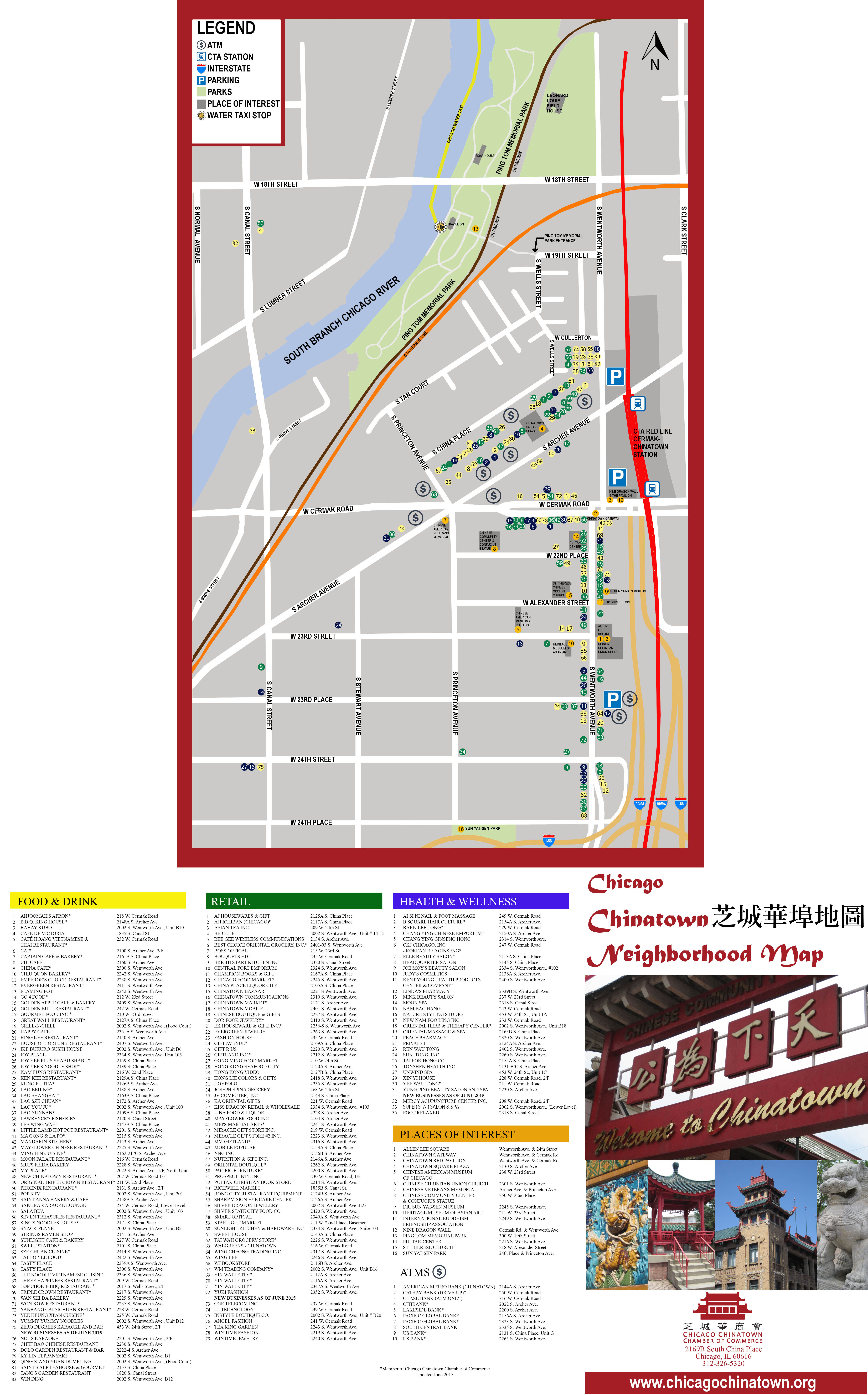 Chinatown Map Chicago Chinatown Chamber - Chicago map attractions